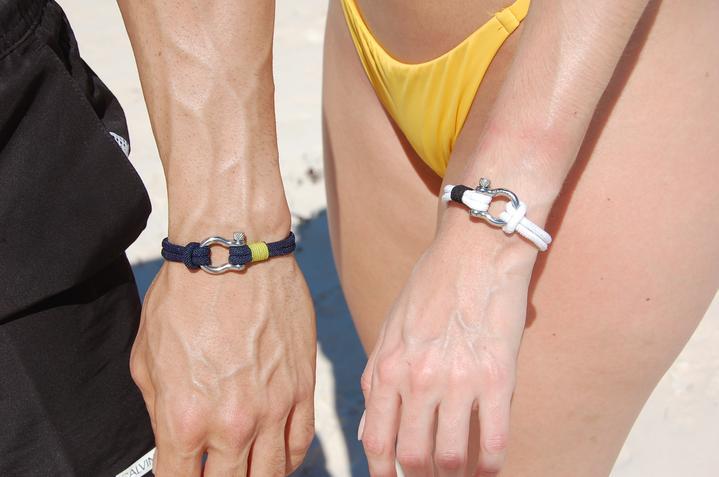 Photo of Mackerel Studios bracelets on models